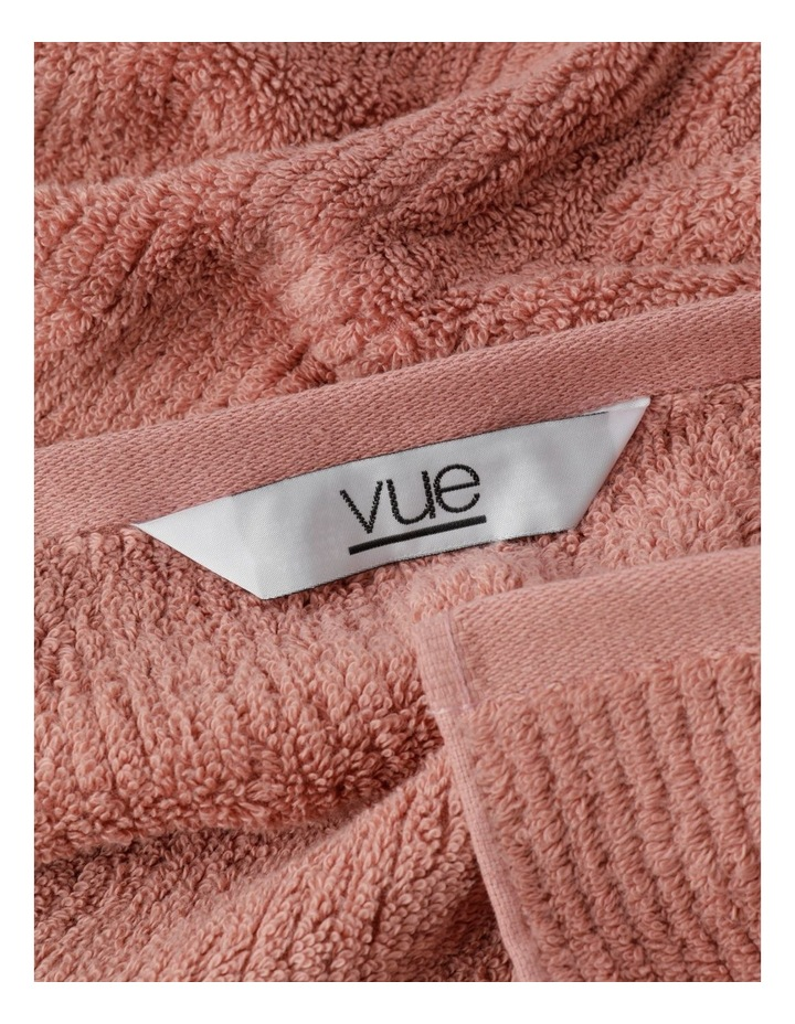 Combed Cotton Ribbed Towel Range In Pink Clay image 3