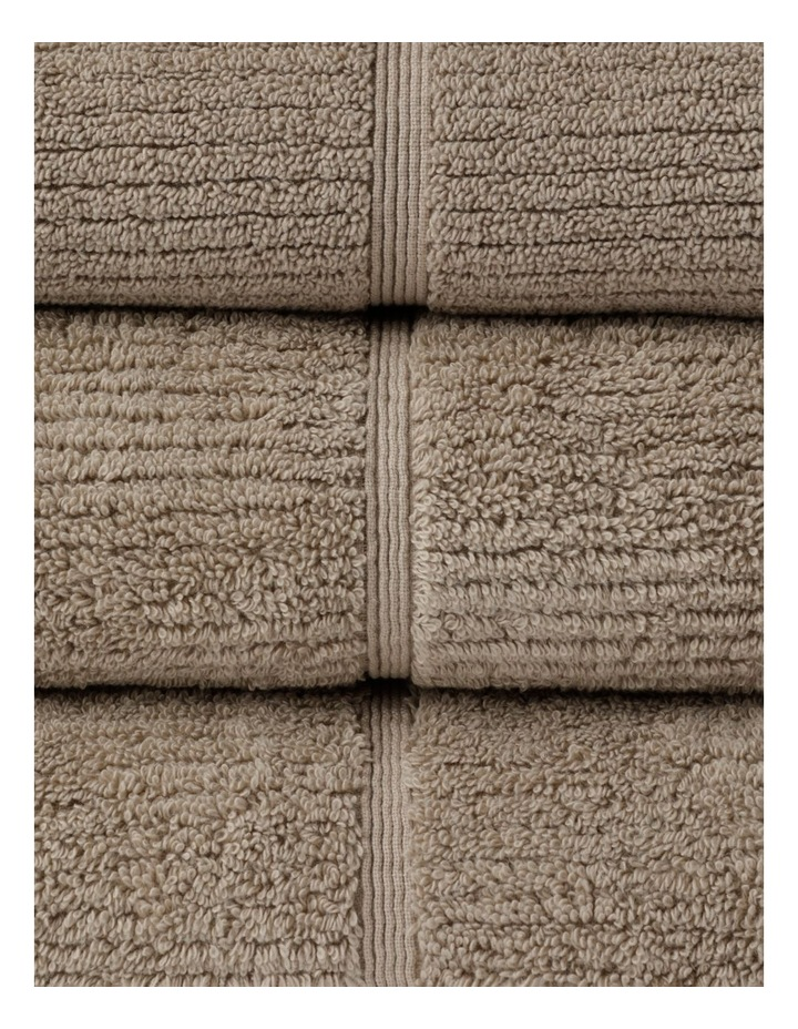 Combed Cotton Ribbed Towel Range In Straw image 2
