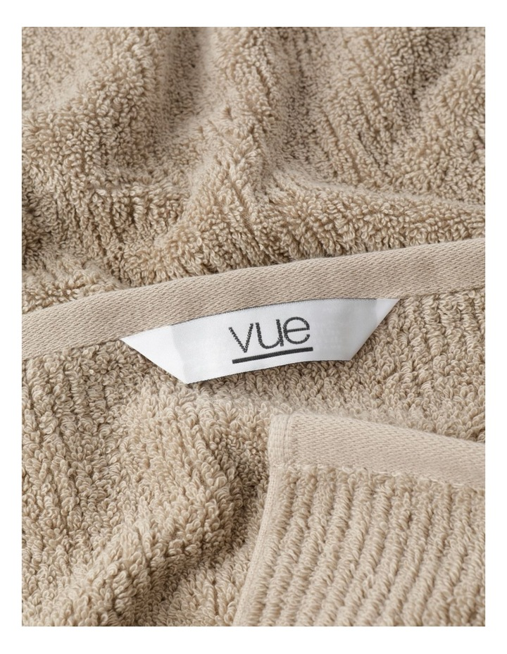 Combed Cotton Ribbed Towel Range In Straw image 3