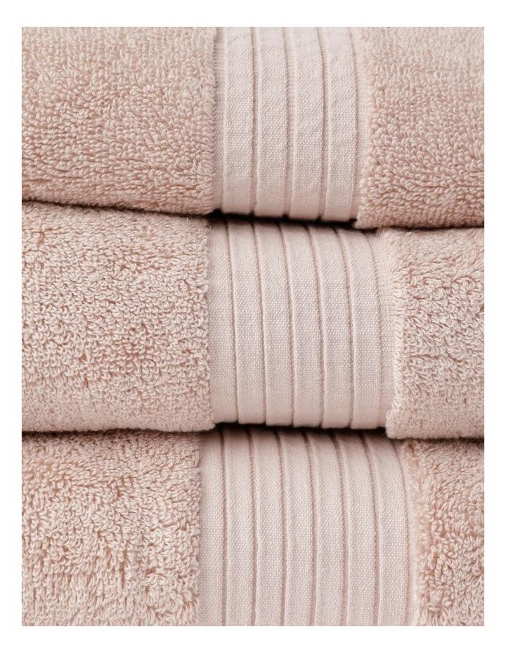 Australian Tencel Cotton Bath Towel Range In Baby Pink image 2