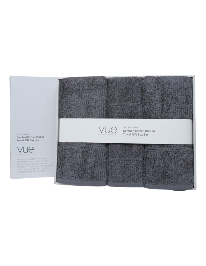 Combed Cotton Ribbed Towel Gift Set image 1