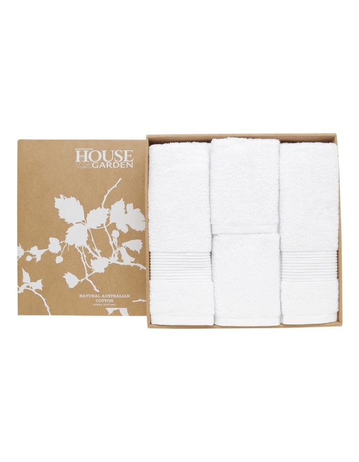 Natural Australian Cotton Towel Gift Set in White image 3
