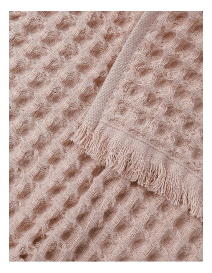 Waffle Hand Towel Pack in Pink Clay image 3