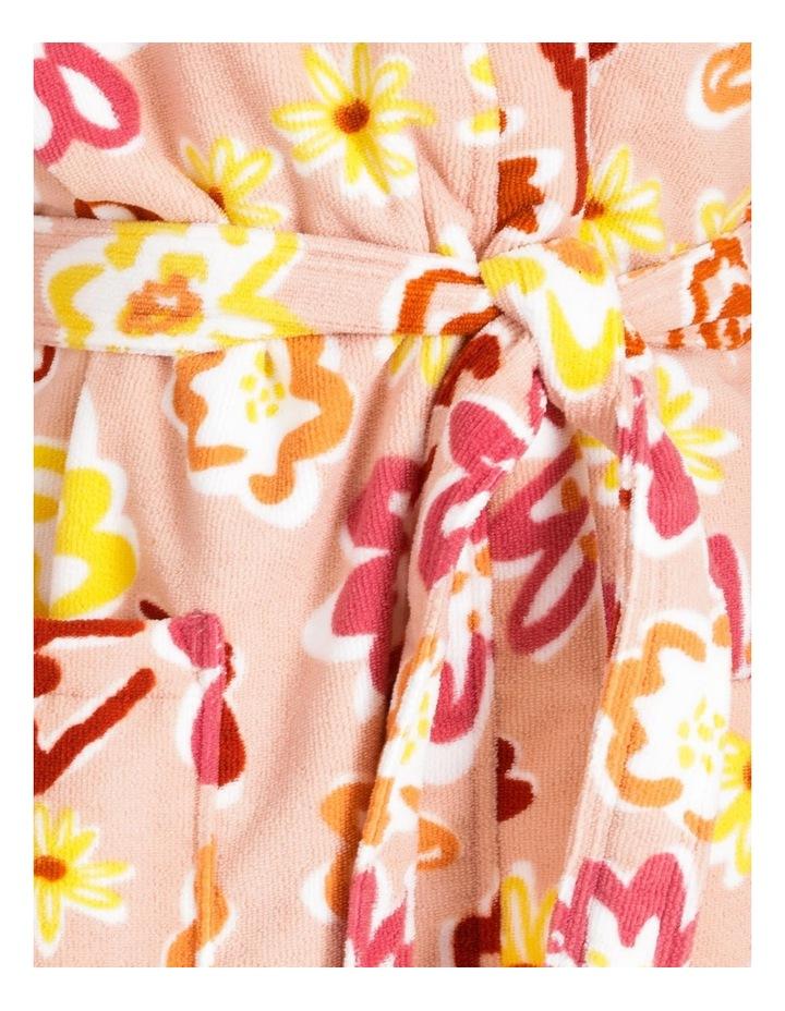 Poppy Microfibre Bath Robe in Multi image 4