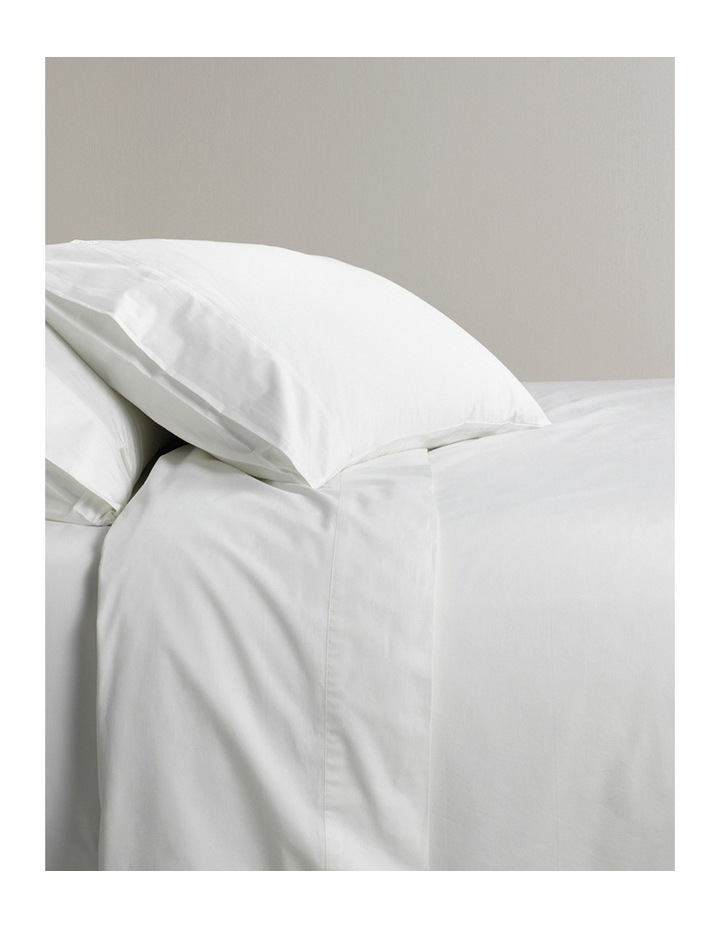300TC Classic Percale Sheet Set in Snow image 1