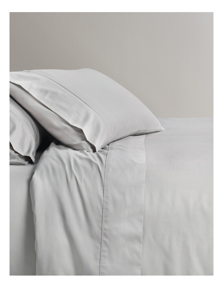 Soft Sateen Cotton Sheet Set 400TC in Dove image 1