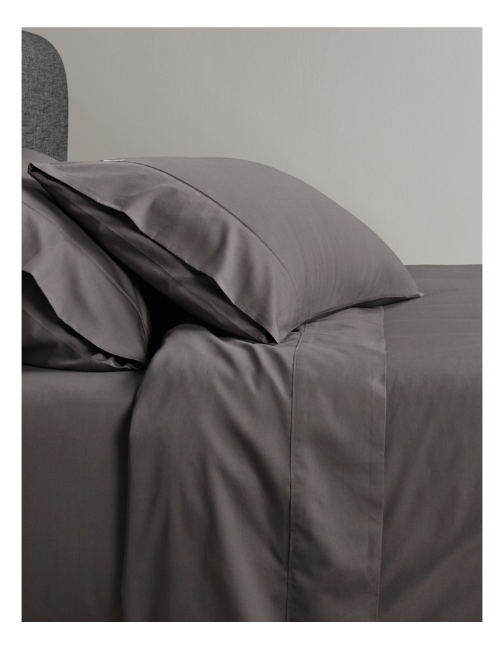 400TC Sateen Sheet Set in Charcoal image 1