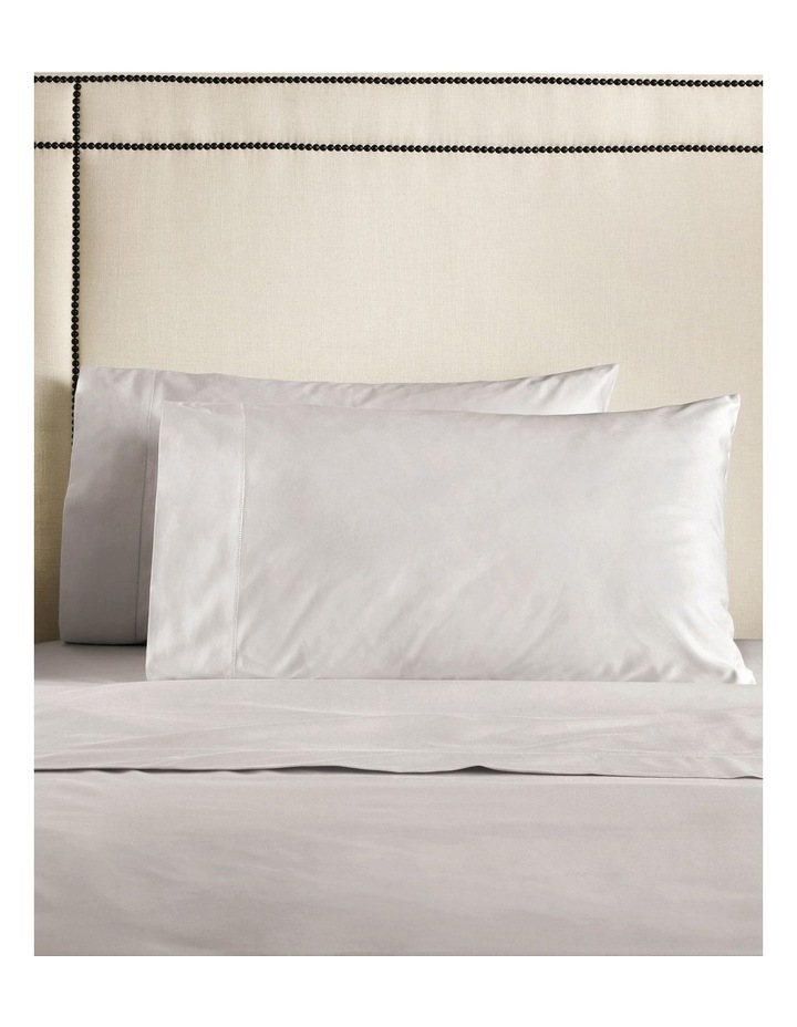 Hotel-Weight Luxury 1000TC King Pillowcase Pair in Dove image 1