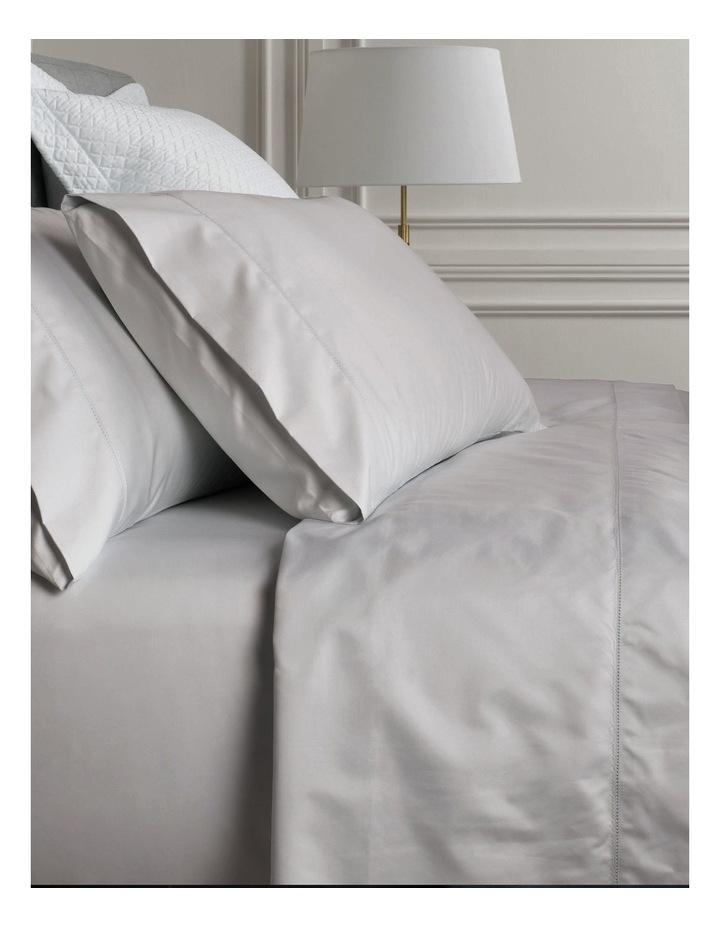 Hotel-Weight Luxury 1000TC King Pillowcase Pair in Dove image 3