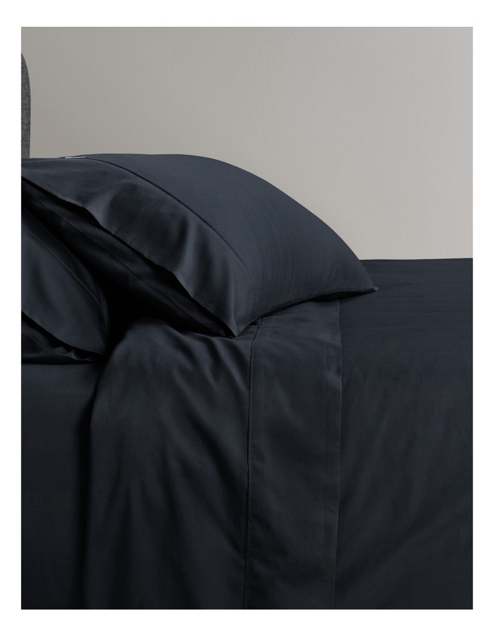 Soft Sateen 400TC Sheet Set in Midnight image 1