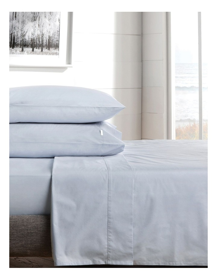 300TC Percale Queen Size Sheet Set in Chloe Blue image 2