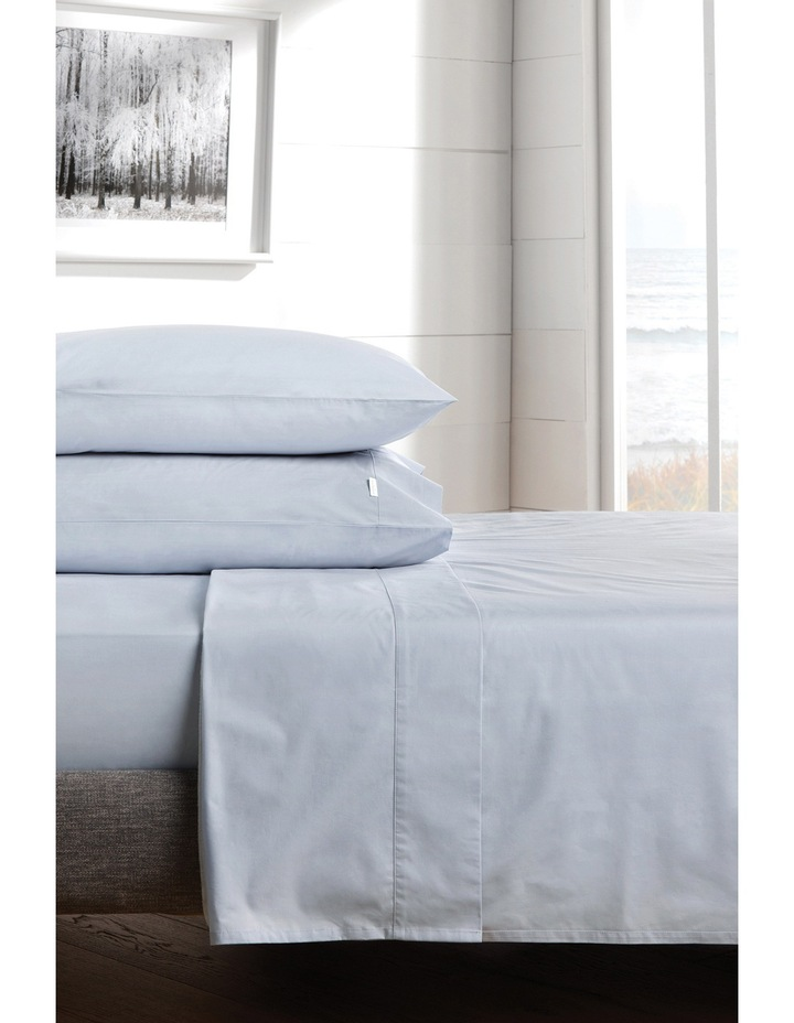300TC Percale Queen Size Sheet Set in Chloe Blue image 1
