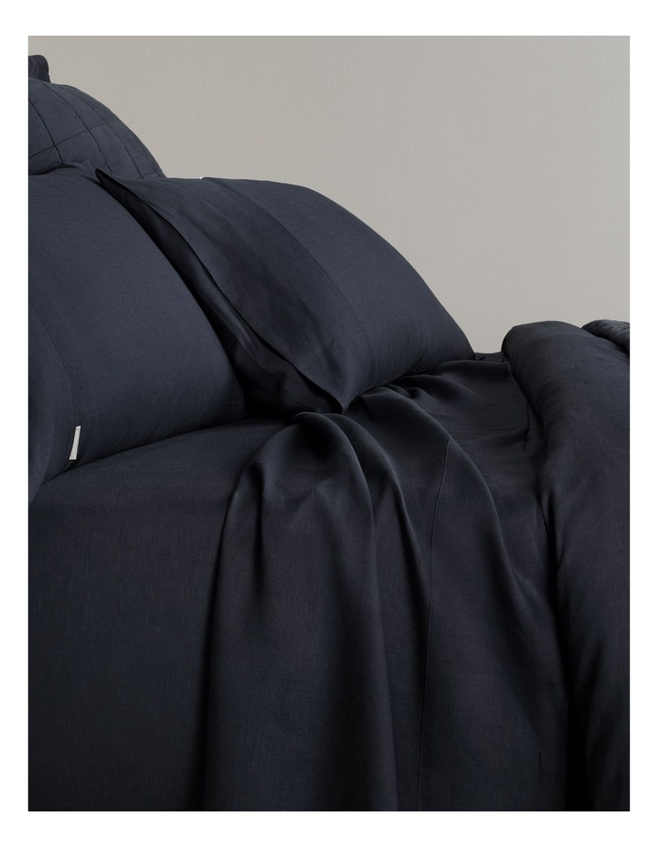 Abbotson Fitted Sheet in Midnight image 1