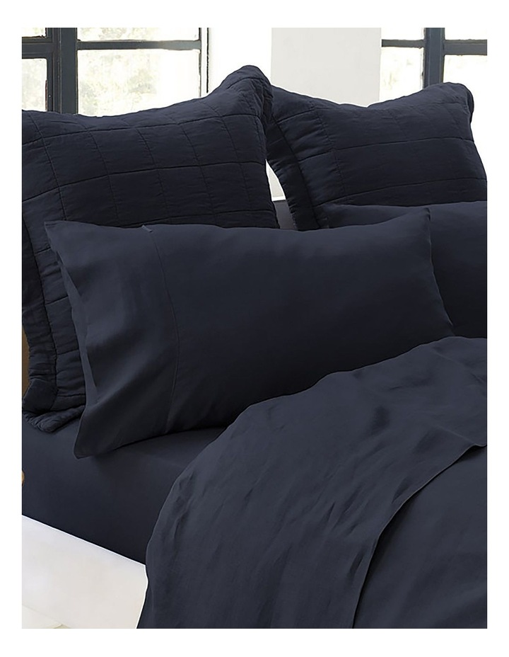 Abbotson Fitted Sheet in Midnight image 2