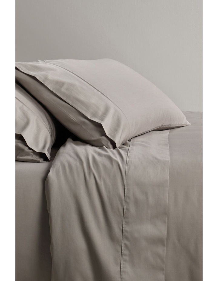 Soft Sateen 400TC Pillowcase Pair in Truffle image 1