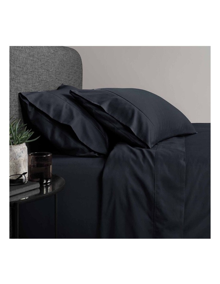 Soft Sateen 400TC Pillowcase Pair in Midnight image 2