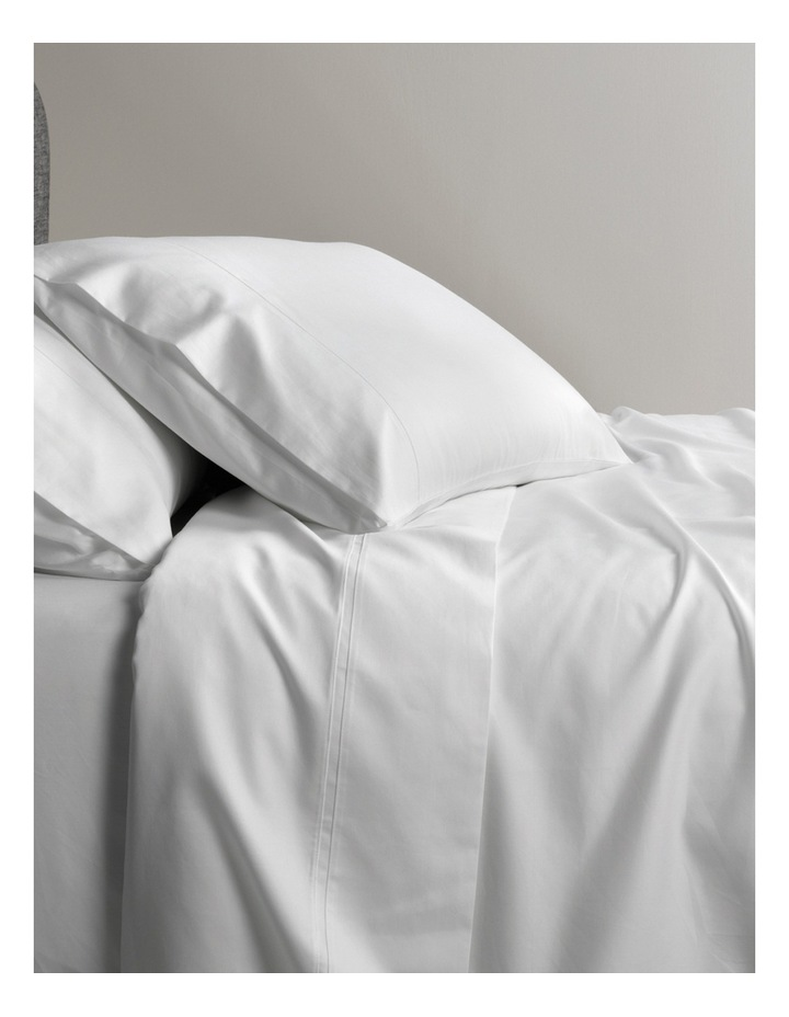 600TC Soft Sateen Egyptian Blend in Snow image 1