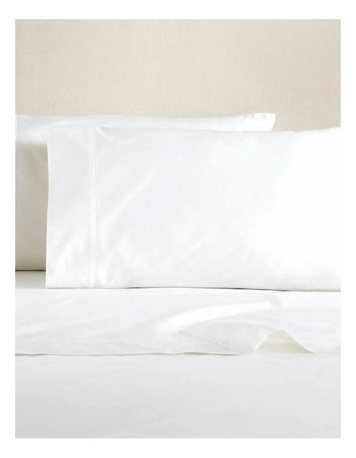 Hotel-Weight Luxury 1000TC Sheet Set in Snow image 1