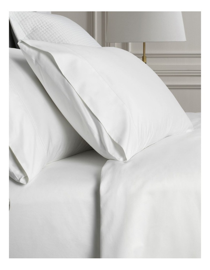 Hotel-Weight Luxury 1000TC Sheet Set in Snow image 2