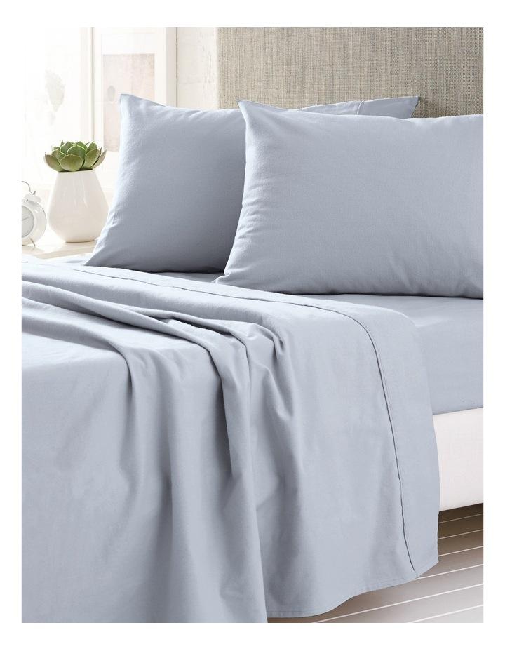 Plain Dye Flannelette Sheet Set Range in Chloe Blue image 1
