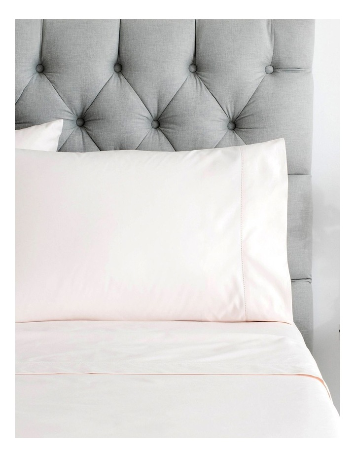 Hotel Weight Luxury 1000TC Sheet Set 40cm in Tea Rose image 1