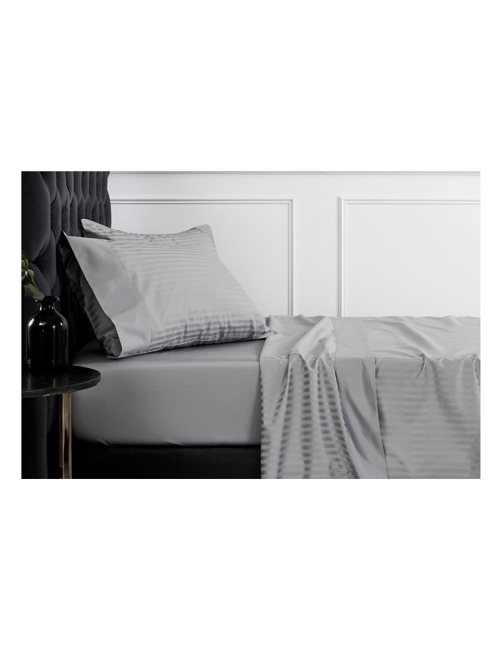 Millennia 1200TC Fitted Sheet in Storm image 3