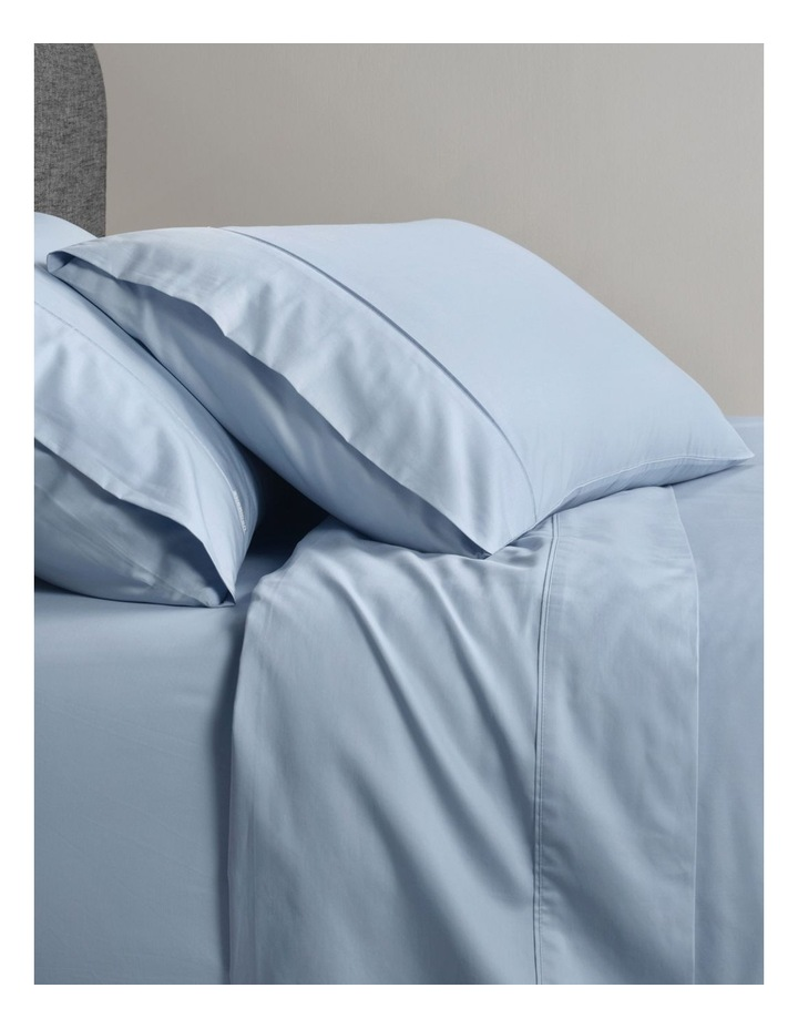 400TC Sateen Pillowcase in Chambray image 1