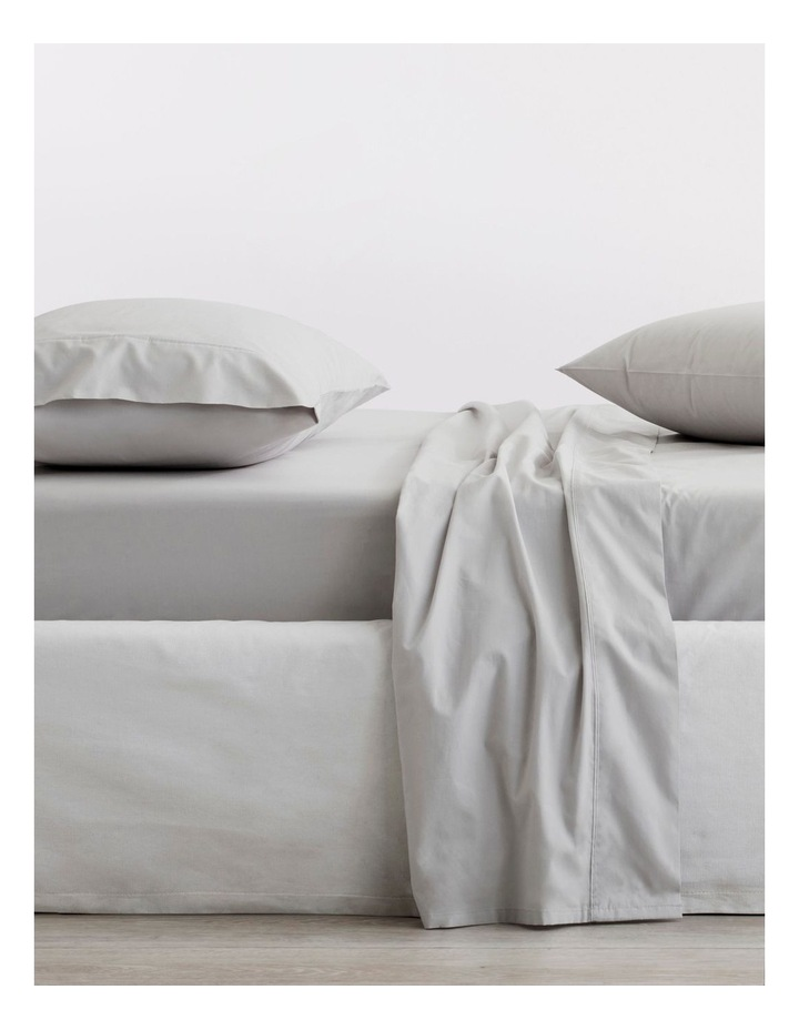 300TC Organic Percale Sheet Set in Dove image 1