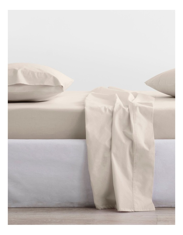 300TC Organic Percale Sheet Set in Sand image 1