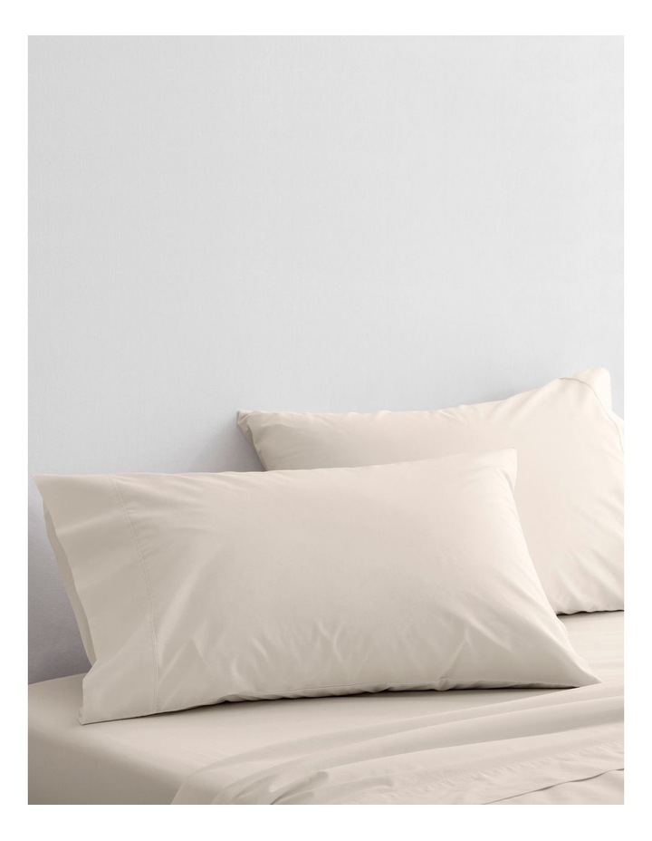 300TC Organic Percale Sheet Set in Sand image 3