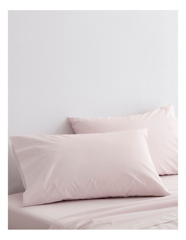 Organic Cotton Percale 300TC Sheet Set in Shell image 3