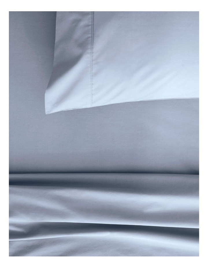 Organic Cotton Percale 300TC Sheet Set in Soft Blue image 2