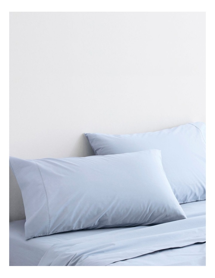 300TC Organic Percale Sheet Set in Soft Blue image 3