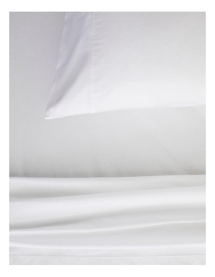 Organic Cotton Percale 300TC Sheet Set in Snow image 2