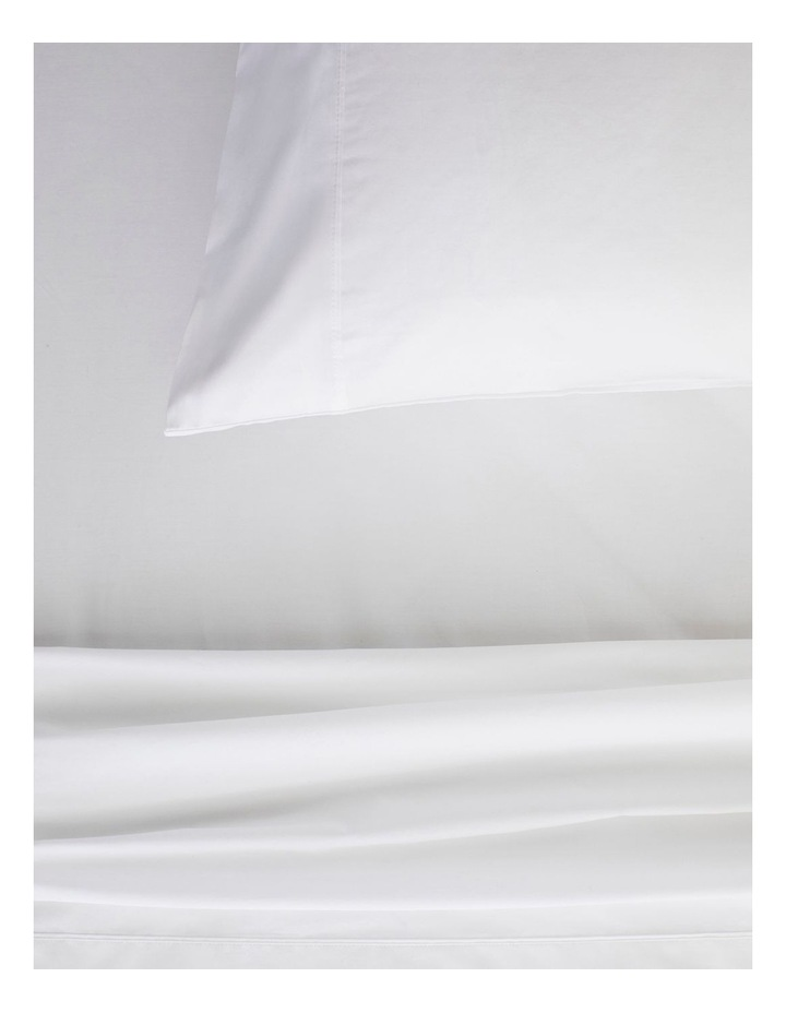 Organic Cotton Percale 300TC Fitted Sheet 50cm in Snow image 2