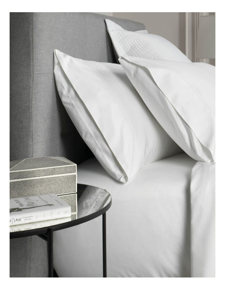 Hotel-Weight Luxury 1000TC King Pillowcase Pair in Snow image 1