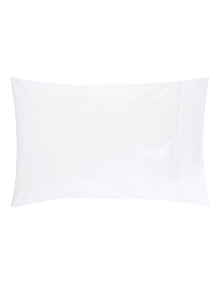 Hotel-Weight Luxury 1000TC King Pillowcase Pair in Snow image 2