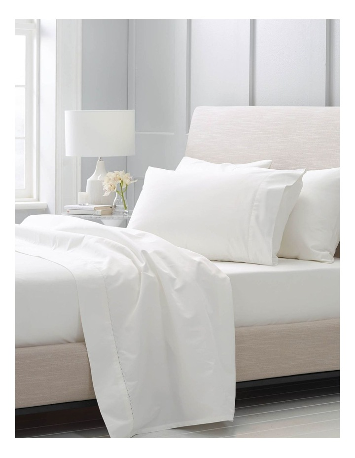 Hotel-Weight Luxury 1000TC King Pillowcase Pair in Snow image 3