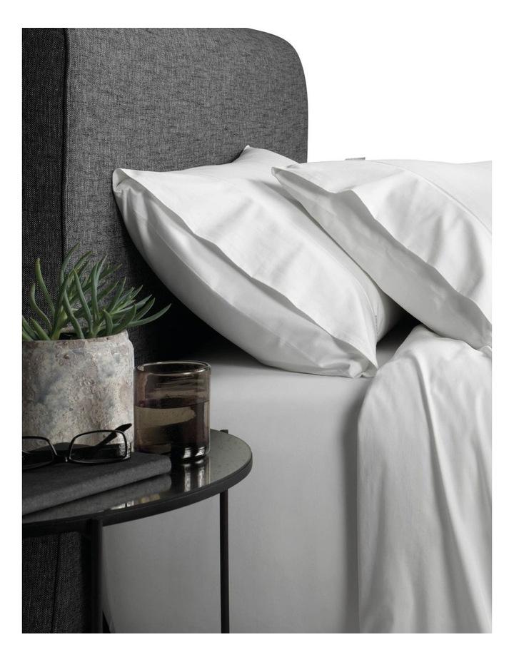 Soft Sateen 400TC King Pillowcase Pair in Snow image 1