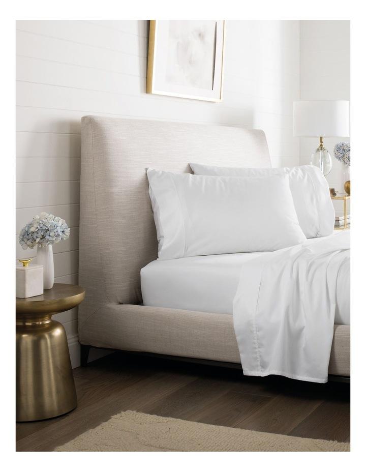 Tencel Lyocell Fibre & Cotton Sheet Set in White image 1
