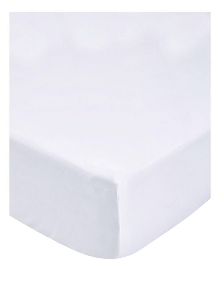 Tencel Lyocell Fibre & Cotton Sheet Set in White image 4