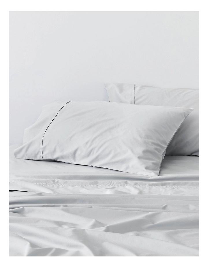 Organic Cotton Sateen 400TC Sheet Set in Frost Grey image 1