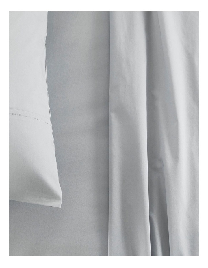 Organic Cotton Sateen 400TC Sheet Set in Frost Grey image 2