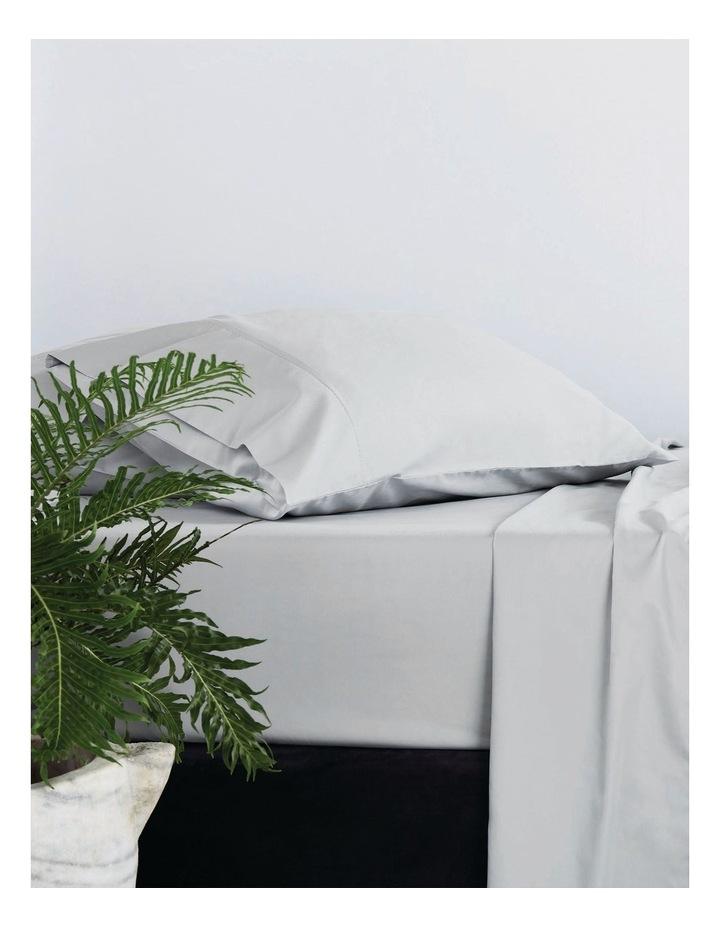 Organic Cotton Sateen 400TC Sheet Set in Frost Grey image 3