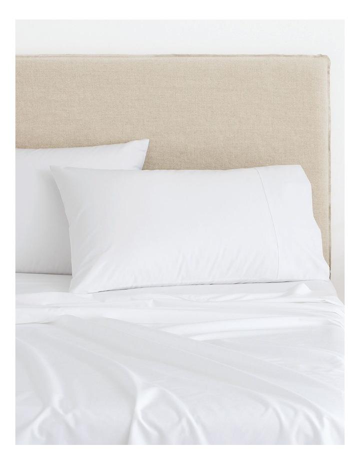 Organic Cotton Sateen 400TC Sheet Set in White image 1