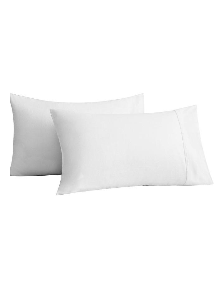 Flannelette Plain Dyes Sheet Set in White image 3