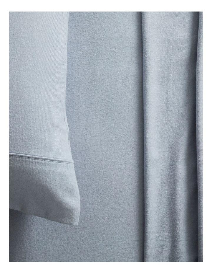 Flannelette Plain Dyes Sheet Set in Sleet image 2