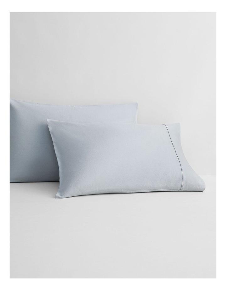Flannelette Plain Dyes Sheet Set in Sleet image 3