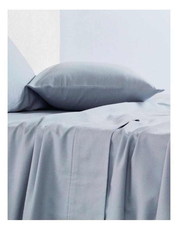 Flannelette Plain Dyes Sheet Set in Sleet image 4