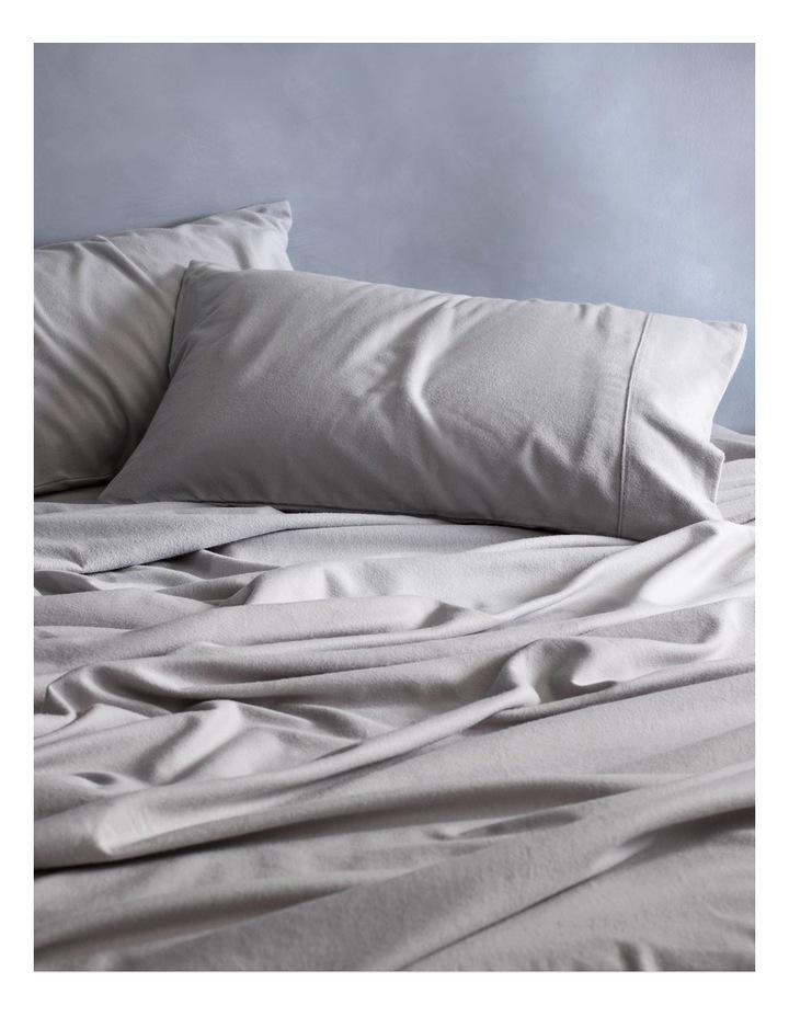 Flannelette Plain Dyes Sheet Set in Cloud Grey image 1